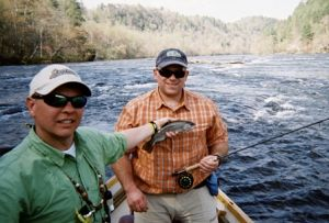 Dale Sullivan with Hiwassee Trout
